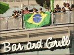Watching from Jack Astor's above the square